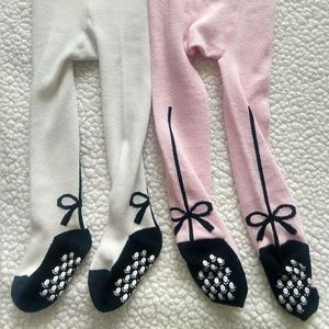 Other - NWOT 2-pack Baby Bowtie Non Skid Leggings 1-2 year